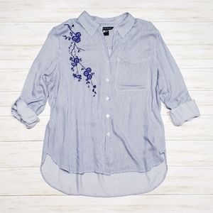 Supply & Demand Embroidered Button Down Shirt